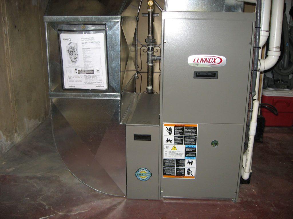 modern residential gas furnace